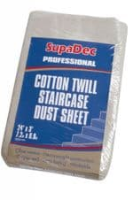 SupaDec Cotton Twill Staircase Dust Sheet - 24' x 3' (7.3m x 0.9m) approx